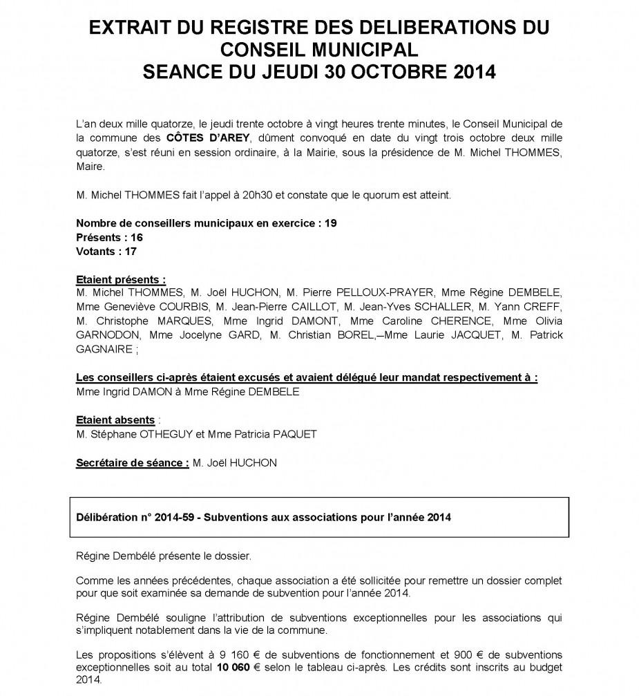 Budget Communal Subventions Municipales Les Cotes D Arey Site